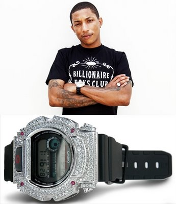 Also Pharrell got the Z-Shock...G Shock+Diamonds=Z Shock