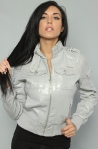 The Pieced With Love Jacket in Steel Gray Women's By Luxirie by LRG | $99
